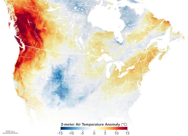 heat wave temp anomaly