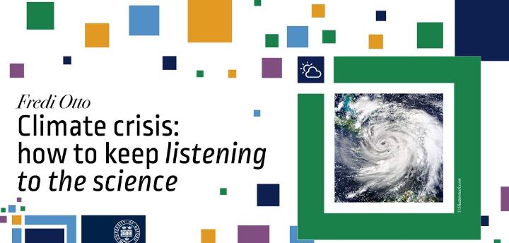 Climate crisis event with Fredi Otto