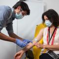 Volunteer in the vaccine trial